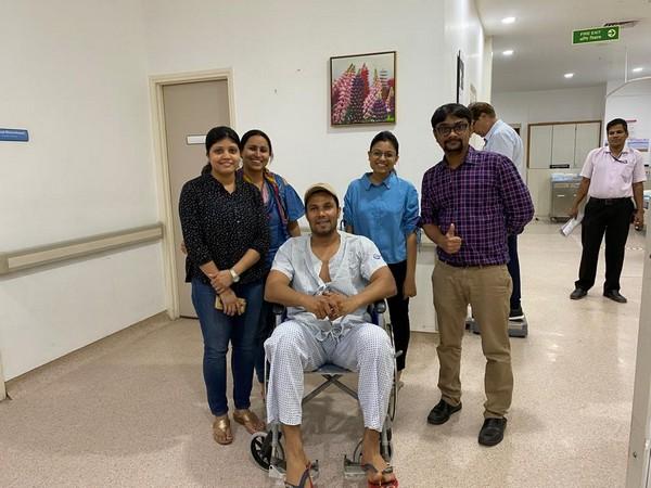 Randeep Hooda at the Kokilaben Dhirubhai Ambani Hospital in Mumbai.