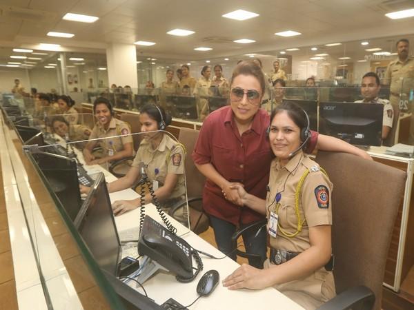Rani Mukerji at the Police Control Room.