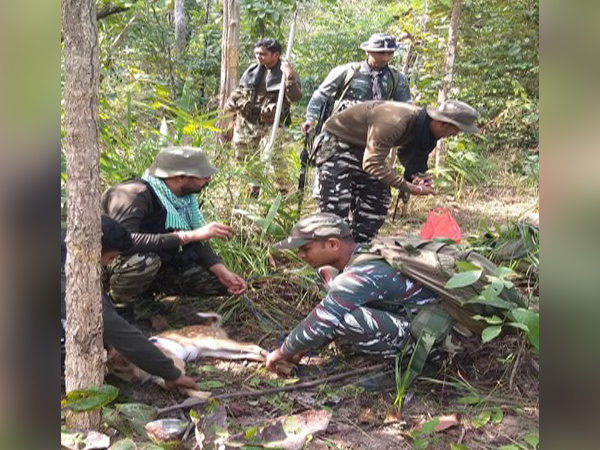The Indian Army personnel rescued Cheetal fawn on December 28 in Chhattisgarh's Bijapur. Photo/ANI