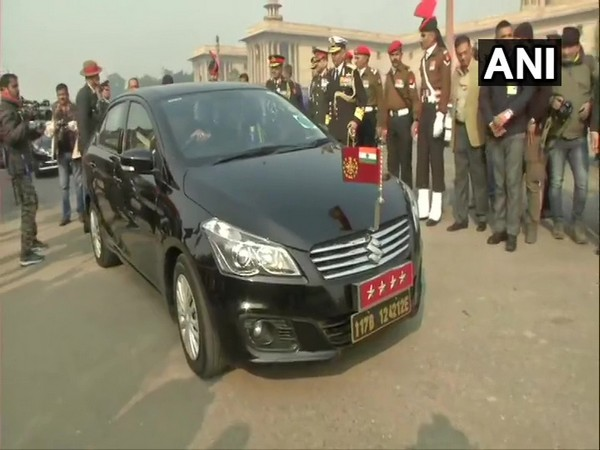 Chief of Defence Staff (CDS) General Bipin Rawat's car (Photo/ANI)