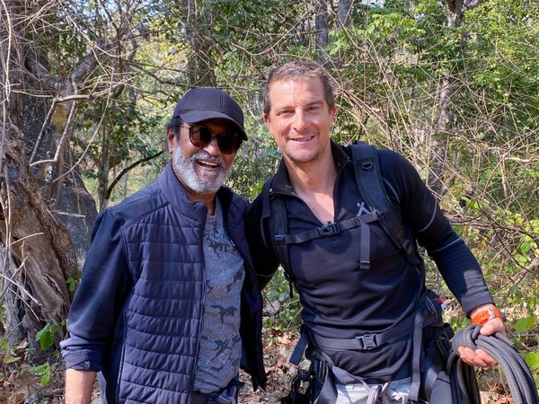 Southern India's superstar Rajinikanth and British adventurer Bear Grylls