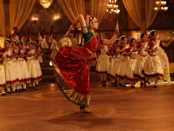 A snap from Kangana Ranaut starrer upcoming biographical movie 'Thalaivi'