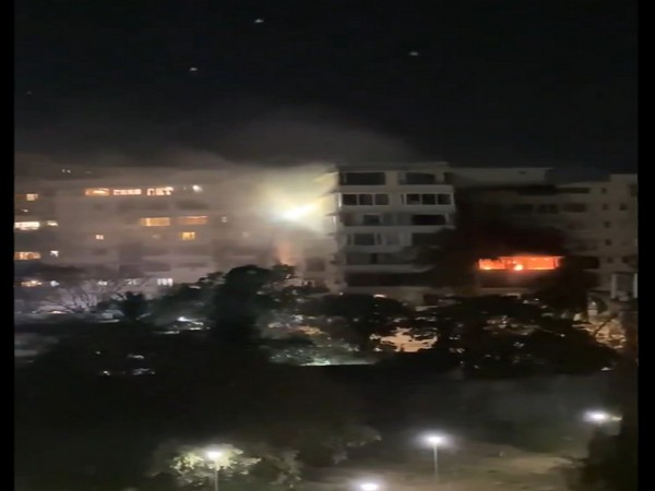 The fire broke out at around 8 pm in the residential building with ground plus 14 floors.