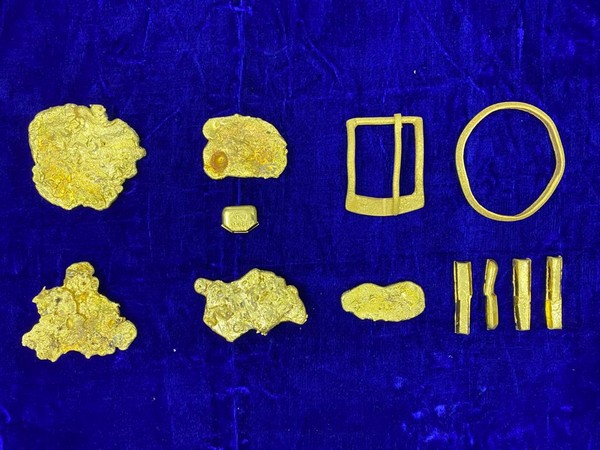 A visual of the gold seized at Chennai Airport. Photo/ANI