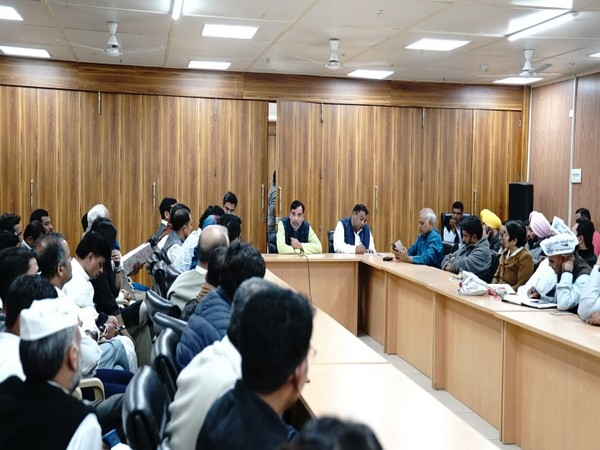 Aam Aadmi Party (AAP) leader and Delhi Minister Gopal Rai convened the meeting of party office bearers on Sunday in New Delhi. Photo/ANI