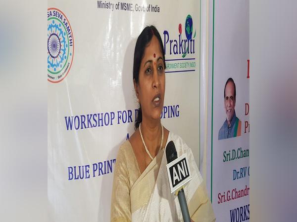 Jayasree, CEO of Prakriti Environment Society, speaking to ANI on Thursday. Photo/ANI