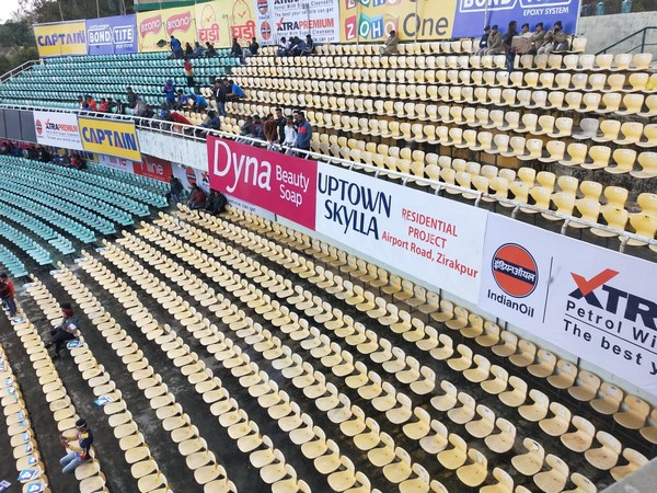 Low attendance during the first ODI match between India and South Africa at HPCA Stadium.