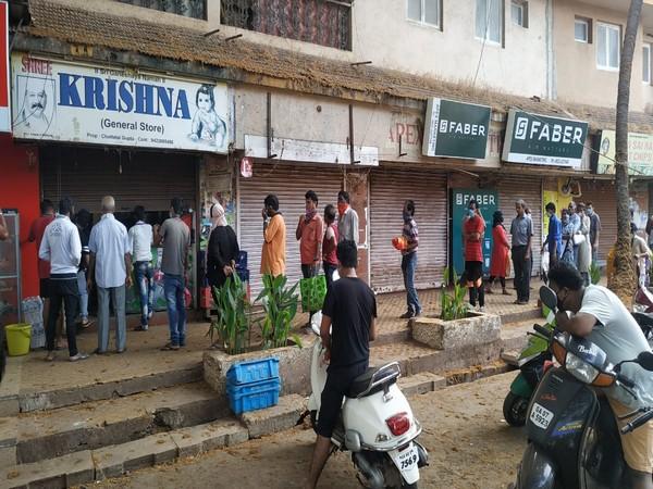 People practice social distancing amid coronavirus outbreak  in Goa. Photo/ANI