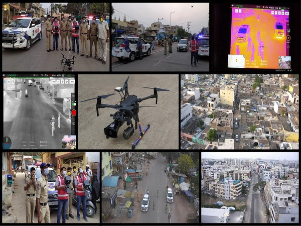 Cyient provides drone-based surveillance technology to support Telangana State Police in implementing COVID-19 lockdown.