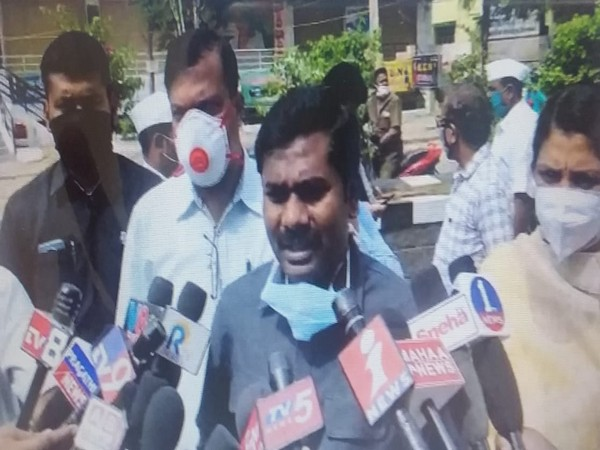 Anantapur District Collector Gandham Chandrudu talking to reporters on Friday.