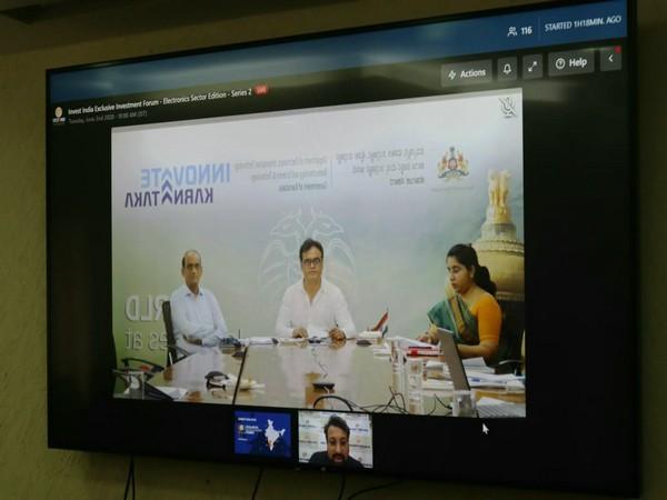 Karnataka Deputy Chief Minister CN Ashwath Narayan during Invest India video conference.