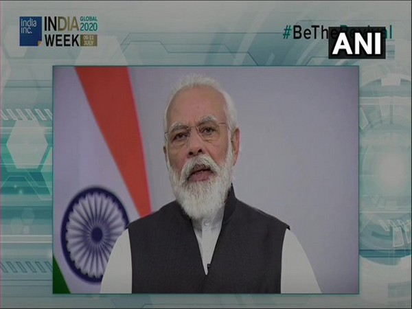 Prime Minister Narendra Modi speaking at the India Global Week on Thursday. (Photo/ANI)