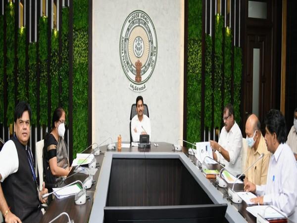 Andhra Pradesh CM YS Jaganmohan Reddy held a review meeting of AMRDA on Thursday. (Photo/ANI)