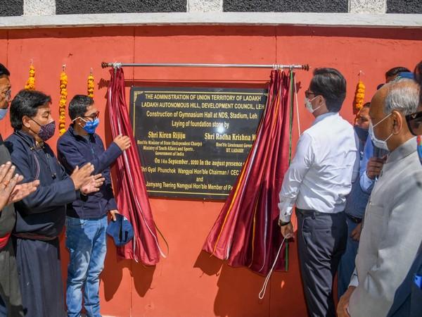 Kiren Rijiju lays foundation stones for various sports facilities in Leh