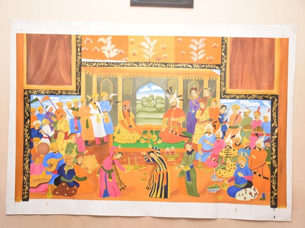 One of the paintings made by Syeda Ashna Turabi (Photo/ANI)