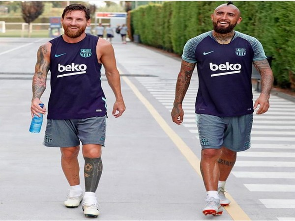 Lionel Messi and Arturo Vidal (Photo/ Lionel Messi Instagram)