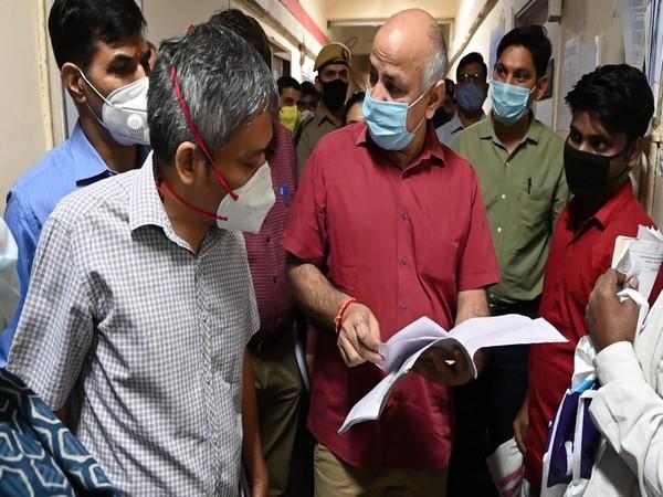 Delhi Deputy CM Manish Sisodia at Labour office during surprise visit (Photo/ANI)