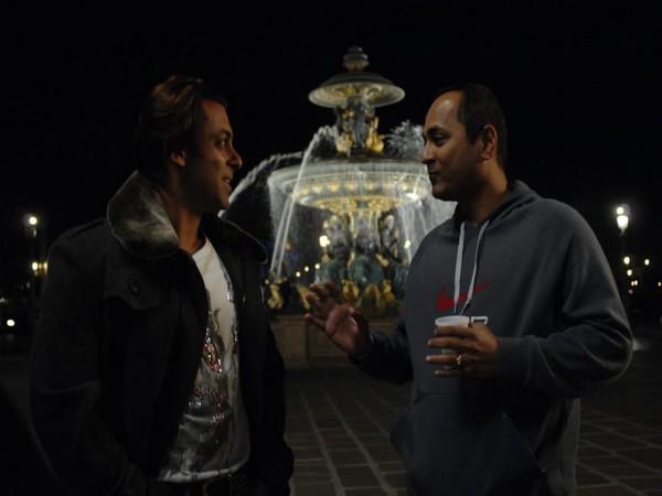 Filmmaker Vipul Shah with megastar Salman Khan