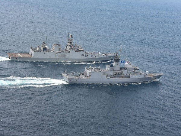 Malabar 20 naval exercise underway in Bay of Bengal on Tuesday.