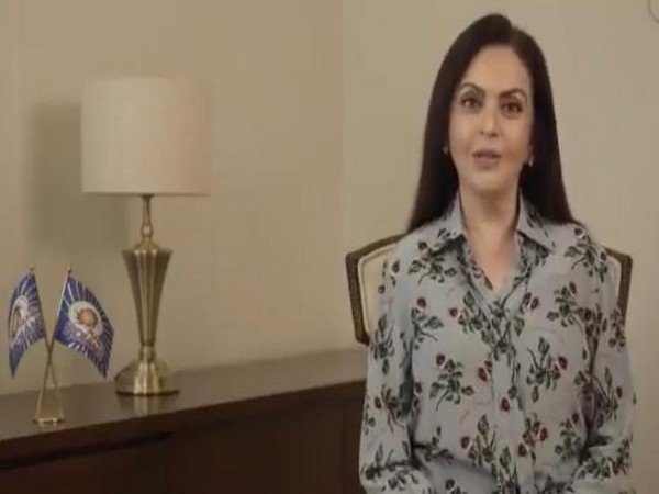 Nita Ambani (Credit: Mumbai Indian Twitter)