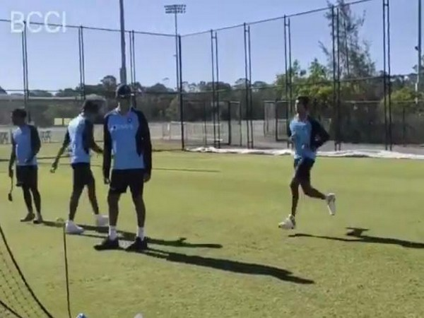 Natarajan bowling in the nets. (Photo/ BCCI Twitter)