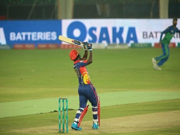 Karachi Kings batsman Sherfane Rutherford (Image: Karachi Kings' Twitter)