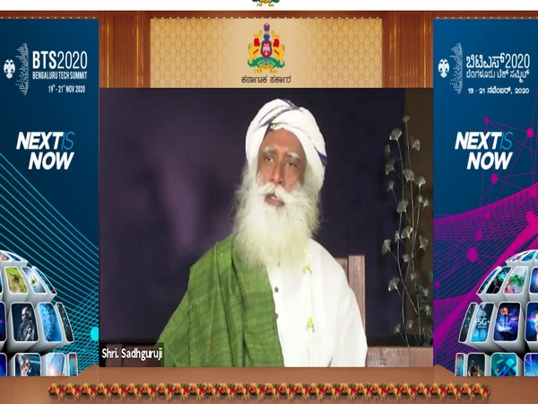Sadhguru Jaggi Vasudev speaking at Bengaluru Tech Summit 2020 (Photo/ANI)
