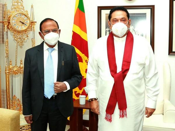 National Security Advisor (NSA) Ajit Doval with Sri Lanka Prime Minister Mahinda Rajapaksa.