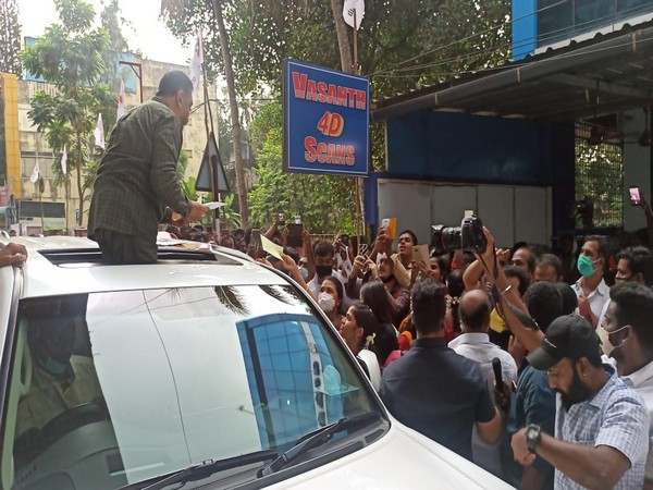 Kamal Haasan's roadshow in Kanyakumari on Wednesday. (Photo/ANI)