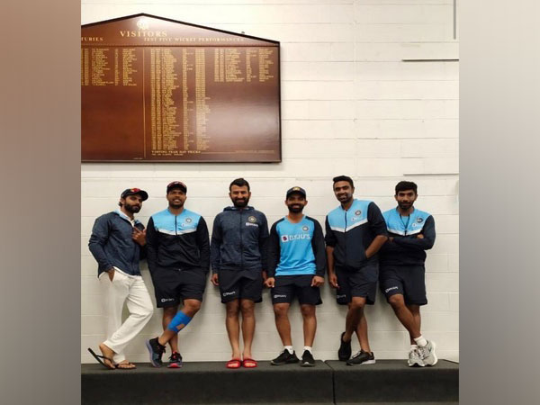 Indian player pose for a picture after the win over Australia. (Photo/ Ravichandran Ashwin Instagram)