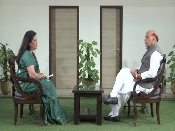 Defence Minister Rajnath Singh speaking to ANI in New Delhi on Tuesday [Photo/ANI]