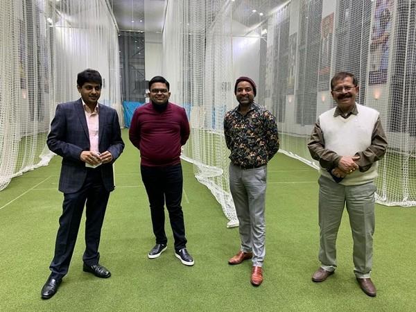 CAB president Avishek Dalmiya with Jay Shah and Arun Dhumal (Image: CABCricket's Twitter)