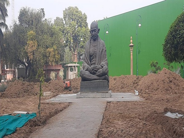 Mahatma Gandhi statue at Parliament relocated to Gate number 3