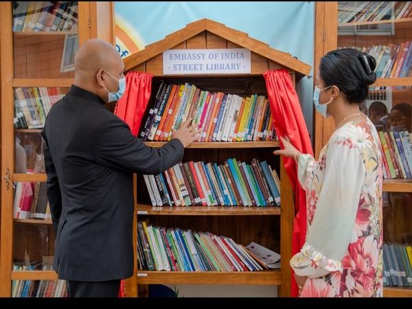 Street library at the Indian Embassy in Antananarivo