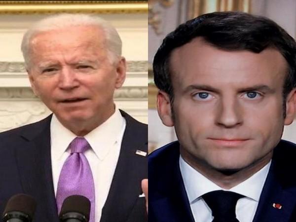 US President Joe Biden spoke to his French counterpart Emmanuel Macron