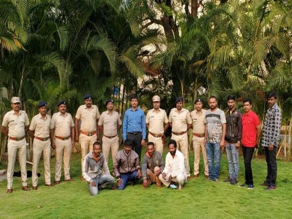 Pune Forest Department arrest four men for Pangolin poaching. (Photo/ANI)