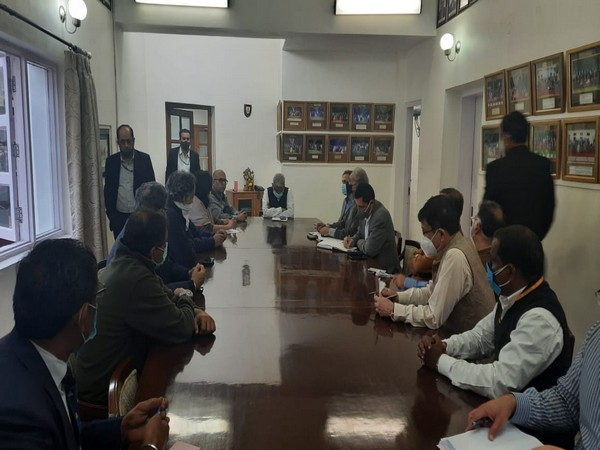 Visuals from Ministry of Corporate Affairs meeting where MM Juneja was appointed as administrator of Delhi Gymkhana (Photo/ANI)