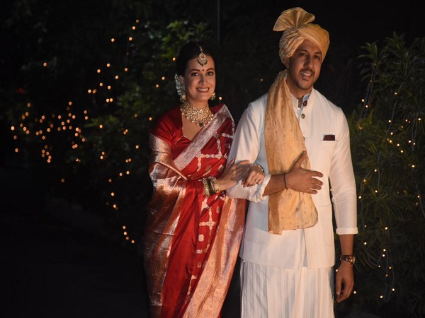 Dia Mirza, Vaibhav Rekhi, first appearance post-wedding