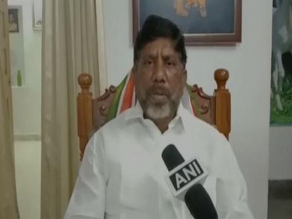 Congress leader Mallu Bhatti Vikramarka speaks to ANI in Telangana's Khammam on Monday.