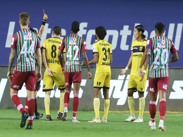ATK Mohun Bagan and Hyderabad FC in action (Photo/ Sportzpics)