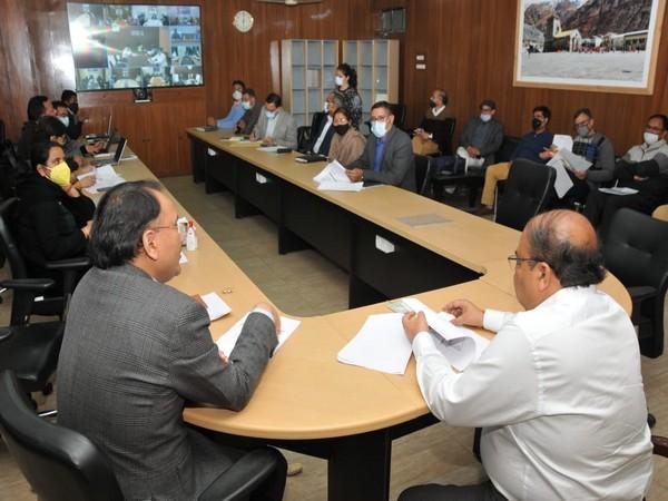 Chief Secretary of Uttarakhand Om Prakash chairs meeting held today at the state's secretariat.