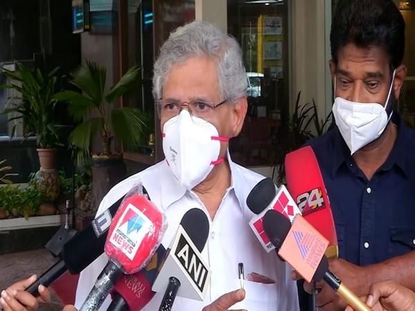 Sitaram Yechury speaking to reporters in Kochi on Friday. [Photo/ANI]