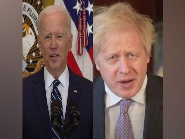 US President Joe Biden (l) and British Prime Minister Boris Johnson