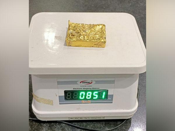 Gold worth Rs 39.48 lakhs seized at Mangalore Airport. [Photo/ANI]