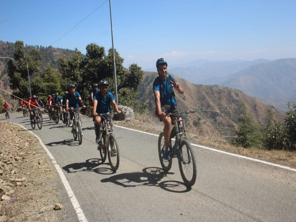 IMA cadets during Mountain Terrain Bike Hike (Photo/ANI)