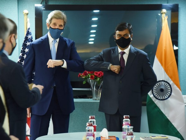 US Presidential envoy on climate John Kerry and Minister of State for Power RK Singh on Wednesday.