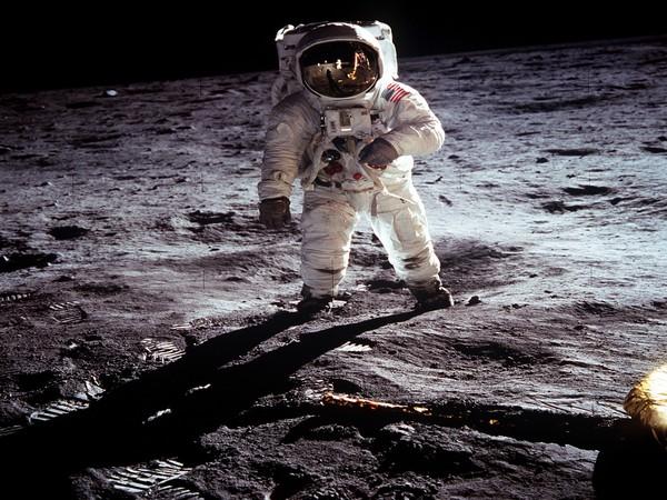 NASA file image shows Apollo 11 U.S. astronaut Buzz Aldrin standing on the Moon, next to the Lunar Module (File Photo)