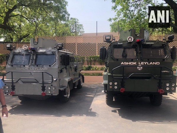 The Light Bullet Proof Vehicles (LBPVs) by IAF. (Photo/ANI)