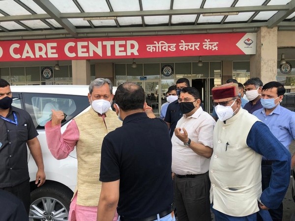 Uttarakhand Chief Minister Tirath Singh Rawat at COVID care centre