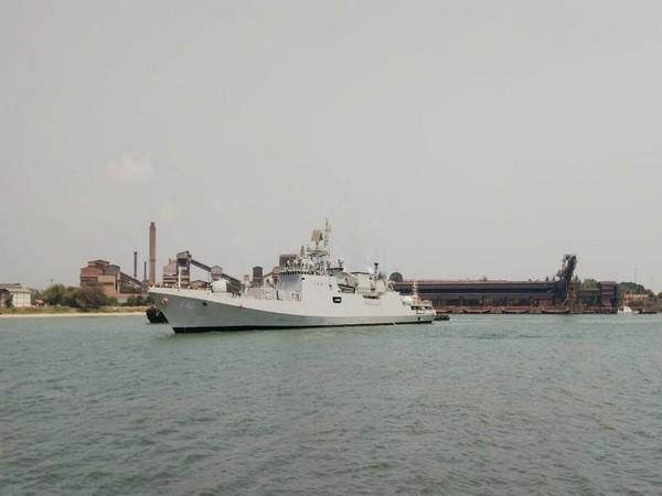 INS Talwar arrives at New Mangalore Port Bahrain (Photo/ANI)